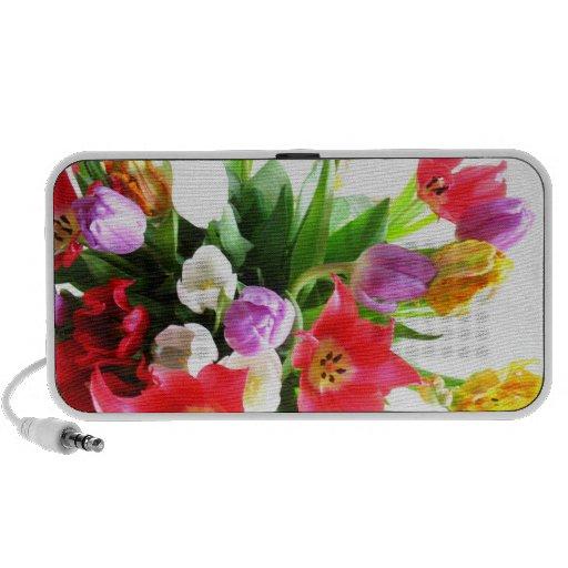 Colorful Tulip Flowers Mini Speaker