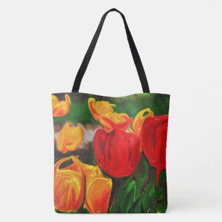 Colorful Tulip Tote Bag
