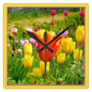 Colorful Tulips_321_B_R2 Clocks