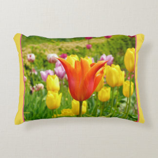 Colorful Tulips_321_B_R2 Decorative Pillow