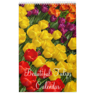 Colorful tulips calendars