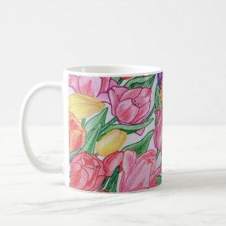 Colorful Tulips Drawing Classic 11 oz Mug
