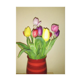 Colorful Tulips Still Life Canvas Print