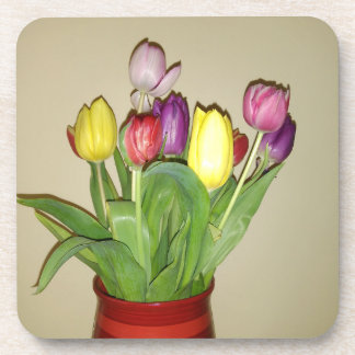 Colorful Tulips Still Life Coaster