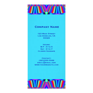 colorful turquoise blue full color rack card