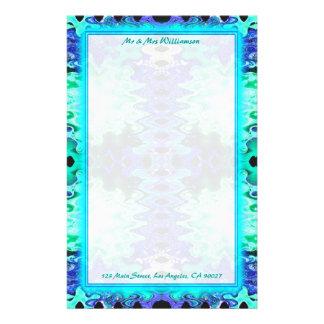 colorful turquoise wedding stationery