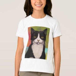 Colorful Tuxedo Cat T-Shirt