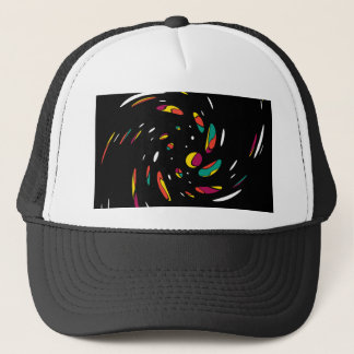 Colorful twist trucker hat