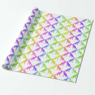 Colorful Tyrannosaurus Rex Dinosaur Wrapping Paper