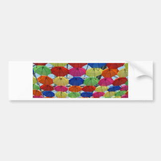 colorful Umbrella Bumper Sticker
