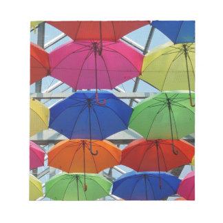 colorful Umbrella Notepad