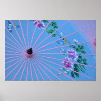 Colorful Umbrella Poster