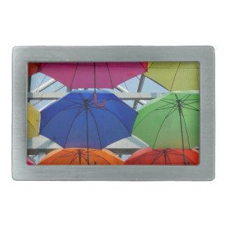colorful Umbrella Rectangular Belt Buckle