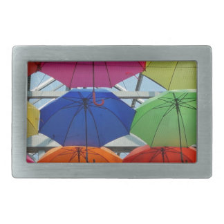 colorful Umbrella Rectangular Belt Buckles