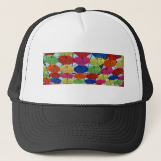 colorful Umbrella Trucker Hat