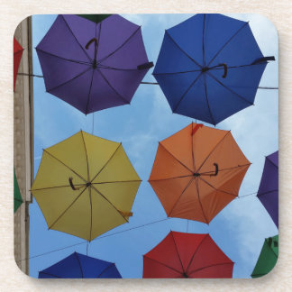 Colorful umbrellas coaster