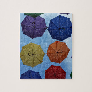 Colorful umbrellas jigsaw puzzle