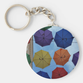 Colorful umbrellas keychain
