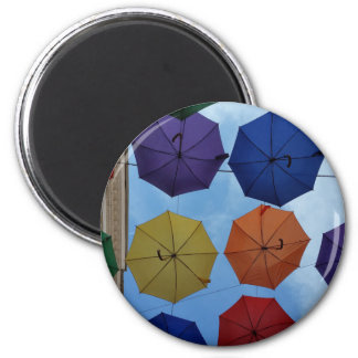 Colorful umbrellas magnet