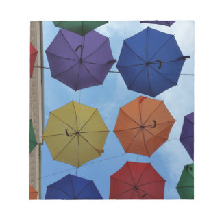 Colorful umbrellas notepad
