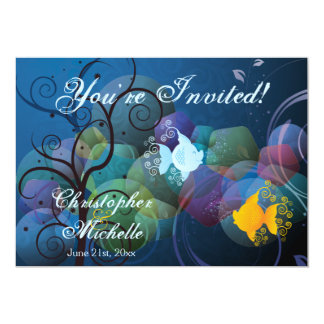 Colorful Underwater Fish Beach Wedding Invitation