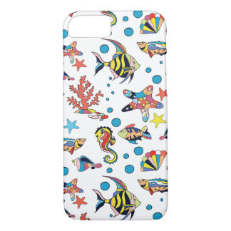 Colorful Underwater Sea Life Pattern iPhone 8/7 Case