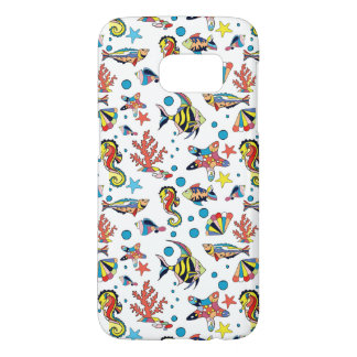 Colorful Underwater Sea Life Pattern Samsung Galaxy S7 Case