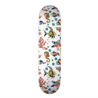 Colorful Underwater Sea Life Pattern Skate Deck