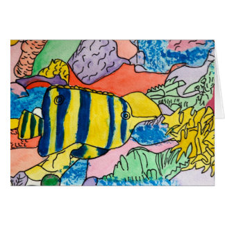 Colorful Underwater World Card