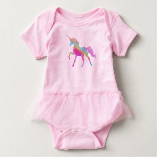 Colorful unicorn baby bodysuit