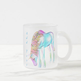 colorful unicorn mug