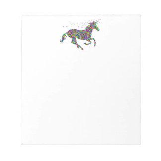 Colorful Unicorn Notepad