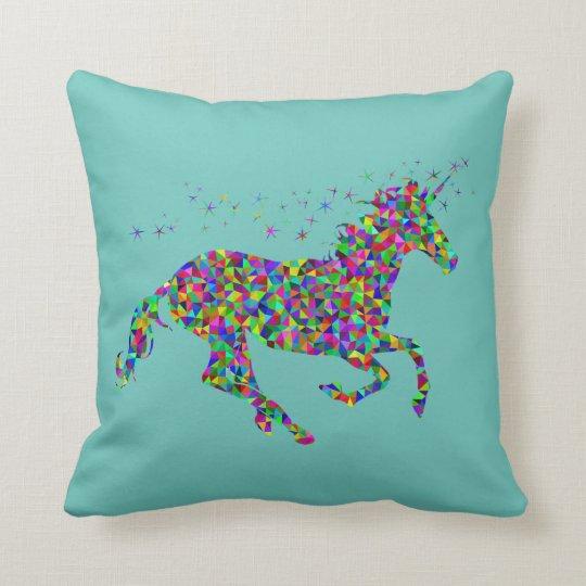 Colorful Unicorn Pillow