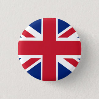 Colorful Union Jack 1 Inch Round Button
