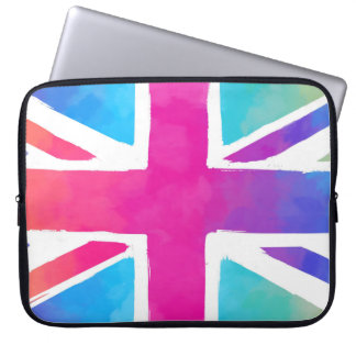 Colorful Union Jack Flag Computer Sleeves