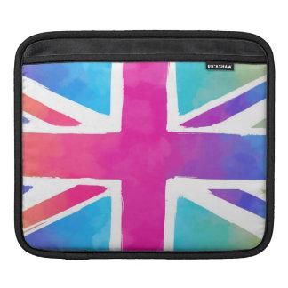 Colorful Union Jack Flag iPad Sleeves