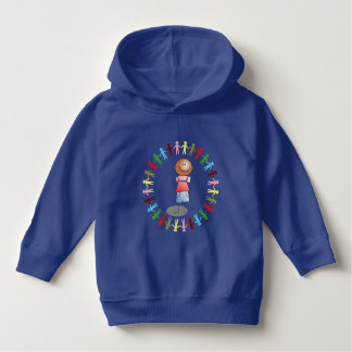 COLORFUL UNITED WORLD AND CHILD HOODIE