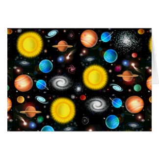 Colorful Universe Astronomy Greeting Card