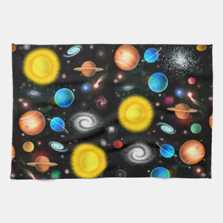 Colorful Universe Astronomy Space Kitchen Towel