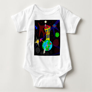Colorful universe baby bodysuit