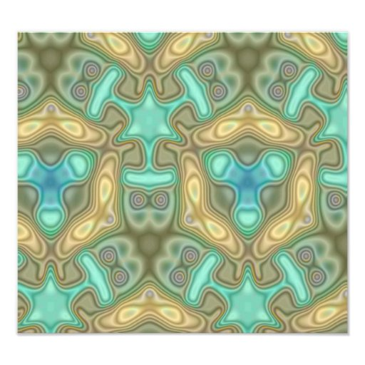Colorful unusual pattern photographic print