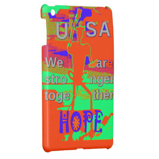 Colorful USA Hillary Hope We Are Stronger Together iPad Mini Cases