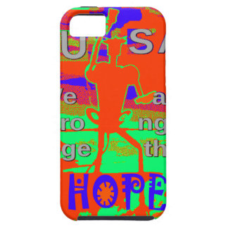 Colorful USA Hillary Hope We Are Stronger Together iPhone 5 Case