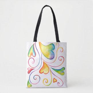 Colorful Valentine Spirals Bag