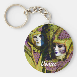 Colorful Venetian Couple Keychain