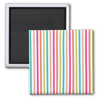 Colorful Vertical Stripes Magnet