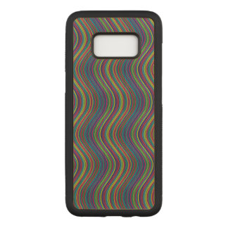 Colorful vertical waves carved samsung galaxy s8 case