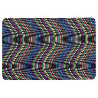 Colorful vertical waves II Floor Mat