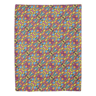 Colorful Vibrant Abstract Pattern Duvet Cover
