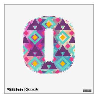 Colorful vibrant diamond shape boho batik pattern wall sticker